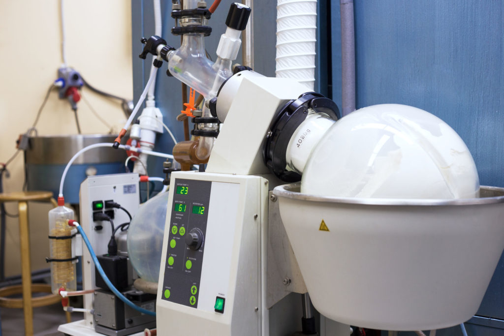 42408376 - rotary evaporator in chemical lab